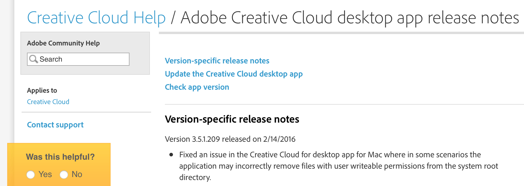It's now safe to update Adobe Creative Cloud apps